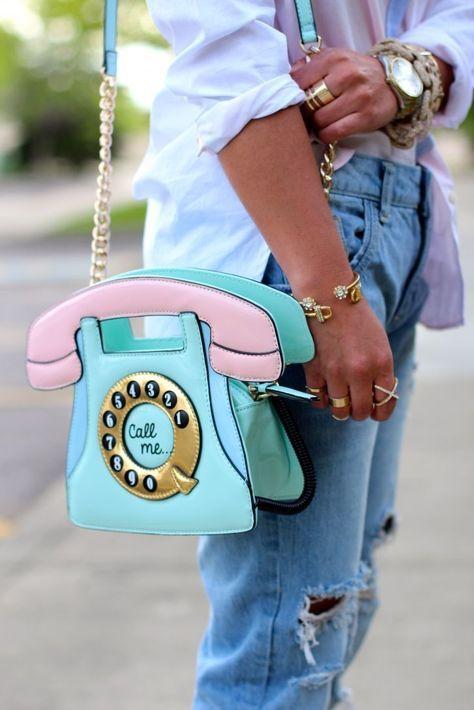 сумка в виде телефона phone bag