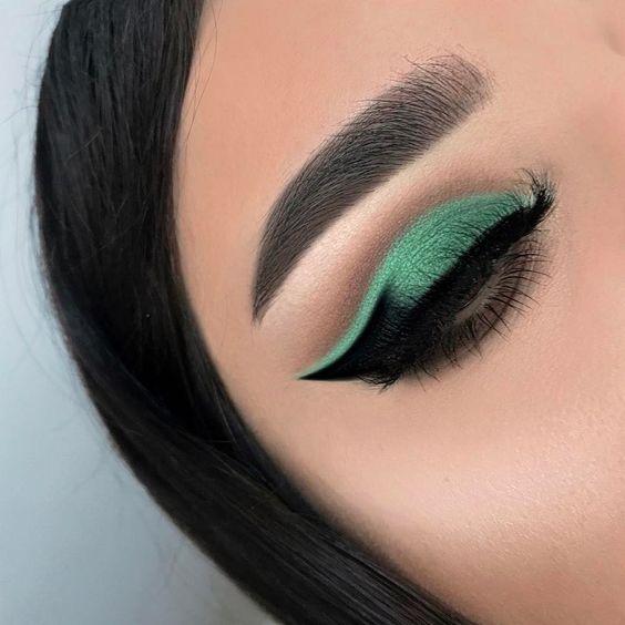 зеленый макияж