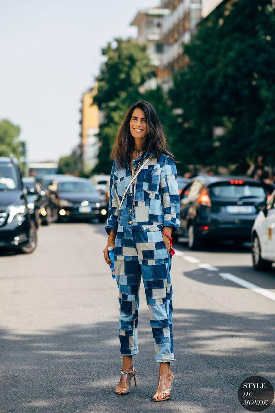 уличная мода джинсовая одежда