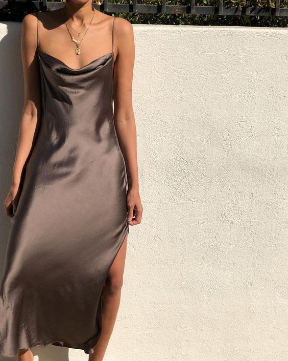как и с чём носить одежду из шёлка, модные образы
