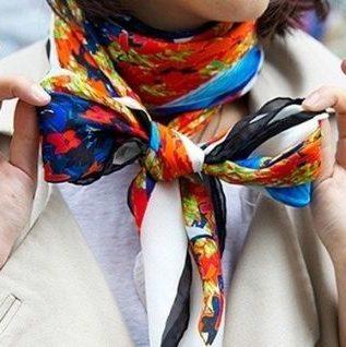 Как завязывать шарф поверх пальто модно и стильно