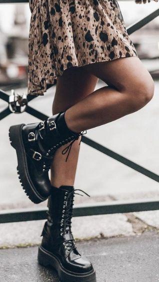 Женские модные ботинки на осень