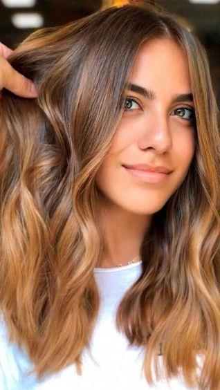 фото, цвет волос карамель