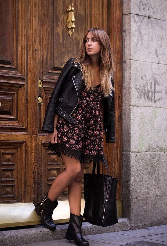 платье с ботинками
