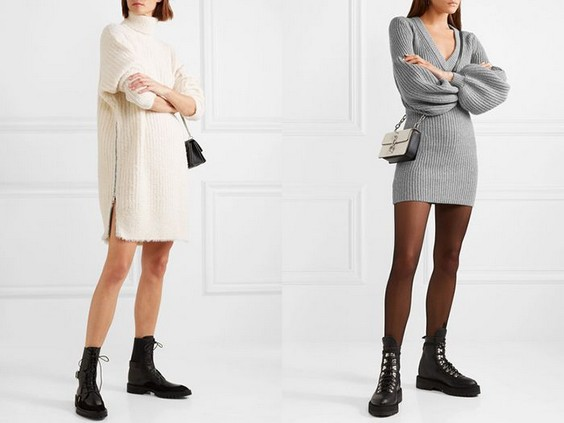грубые ботинки с платьем