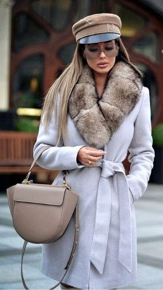 Головной убор к пальто для женщин