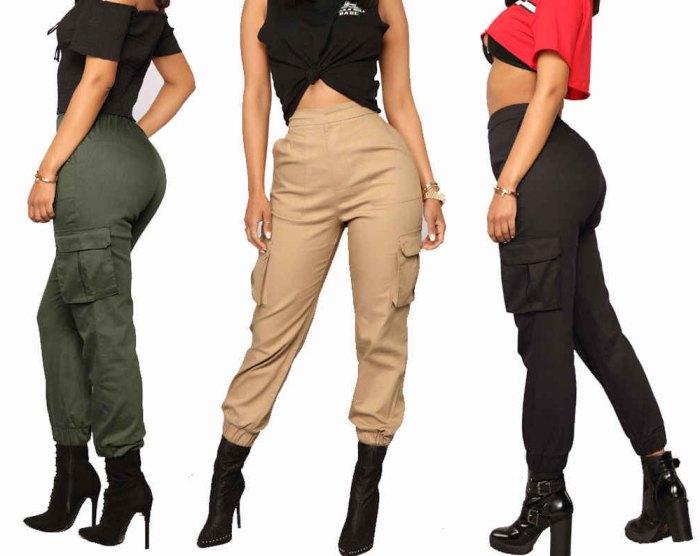 с чем носят брюки карго женские