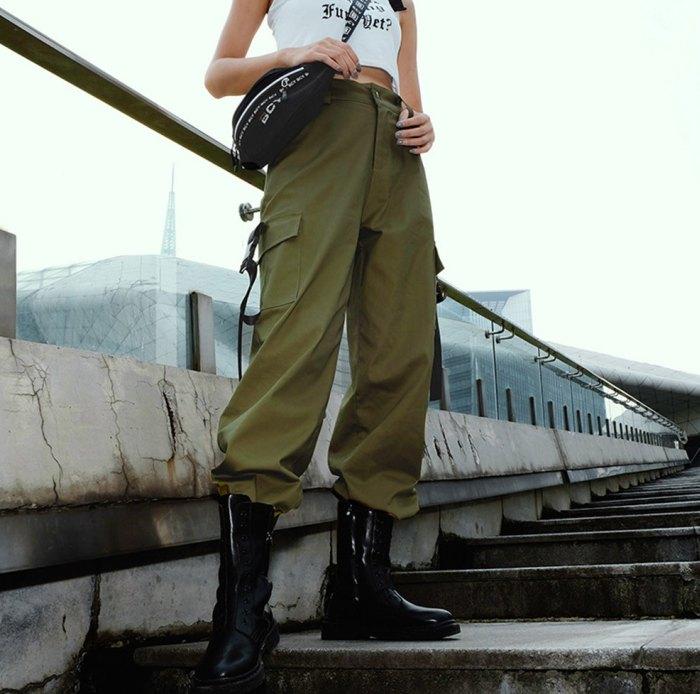 брюки карго женские с чем носить