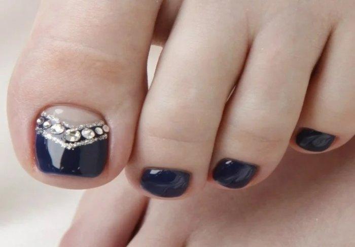 декор лунки ногтя
