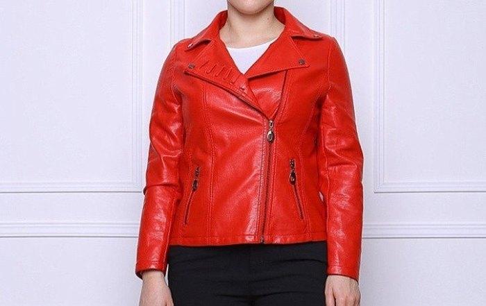 куртка из экокожи женская