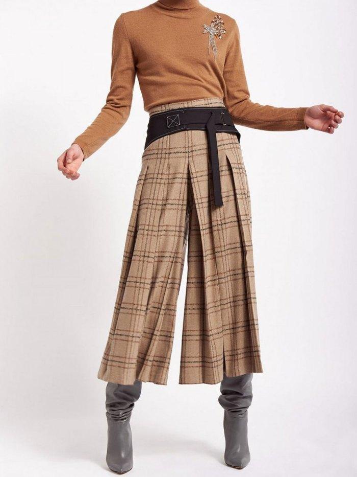 юбка-штаны с сапогами
