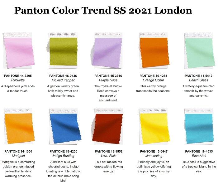 модные цвета весна 2021
