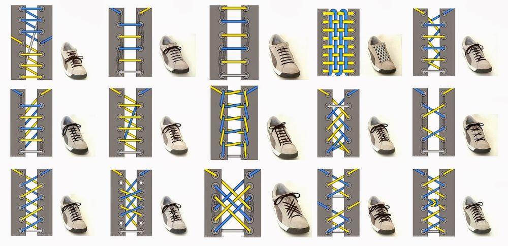 как завязать длинные шнурки на кроссовках