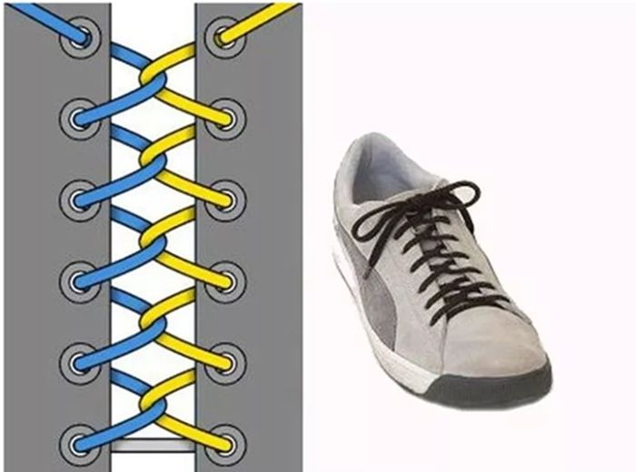 простое плетение шнурка