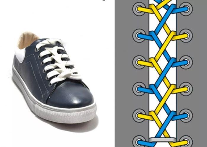 завязать шнурки на кроссовках без бантика