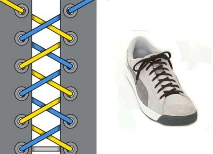 шнуровка для кроссовок с 6 дырками