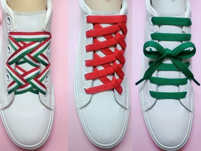 как зашнуровать длинные шнурки