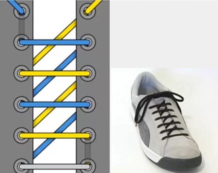 шнуровка кроссовок зиг-заг