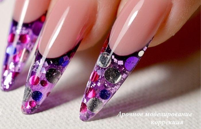 аквариумный дизайн на ногтях