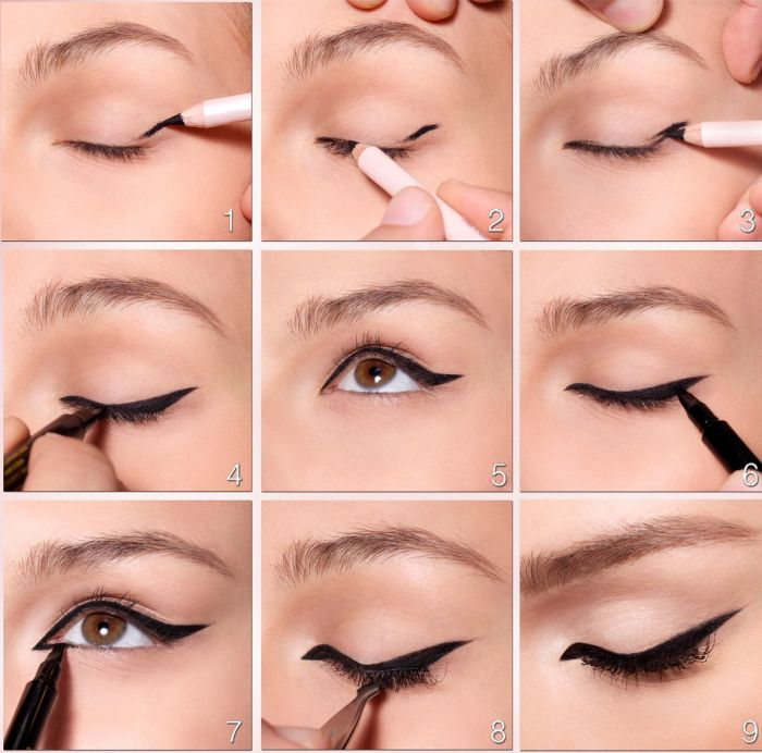 как правильно рисовать стрелки на глазах карандашом