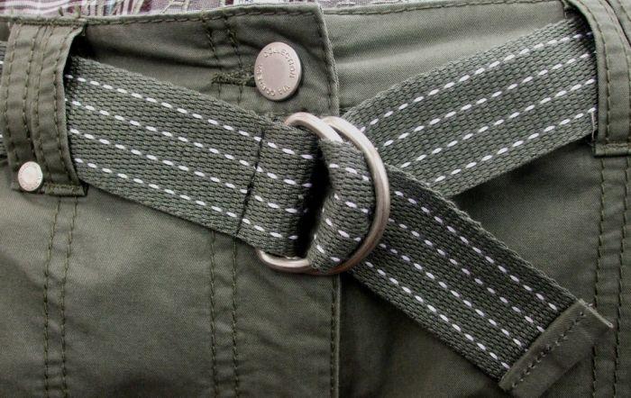 как одевать ремень с двумя кольцами