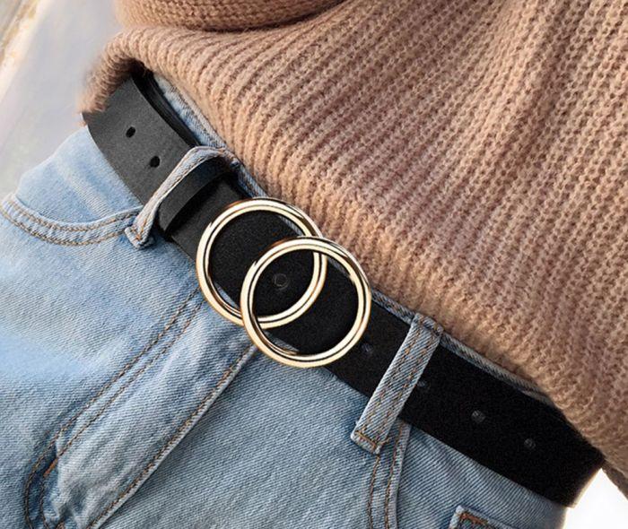 два кольца вместо пряжки на ремне