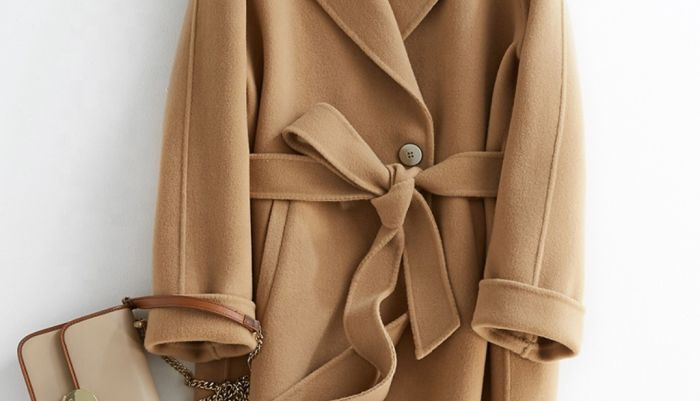 как интересно завязать пальто