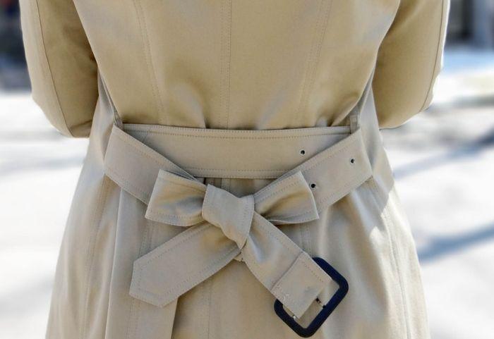 красиво завязать пояс на пальто сзади
