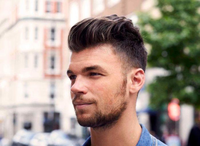 как красиво зачесать волосы назад мужчине
