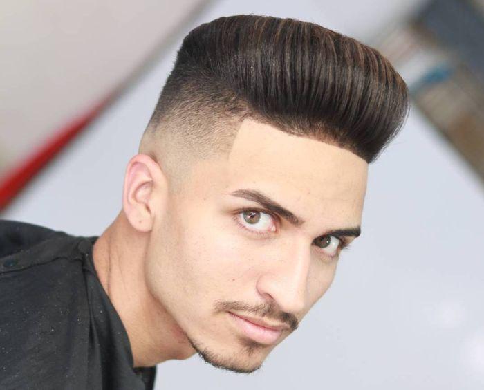 укладка волос назад помакдой