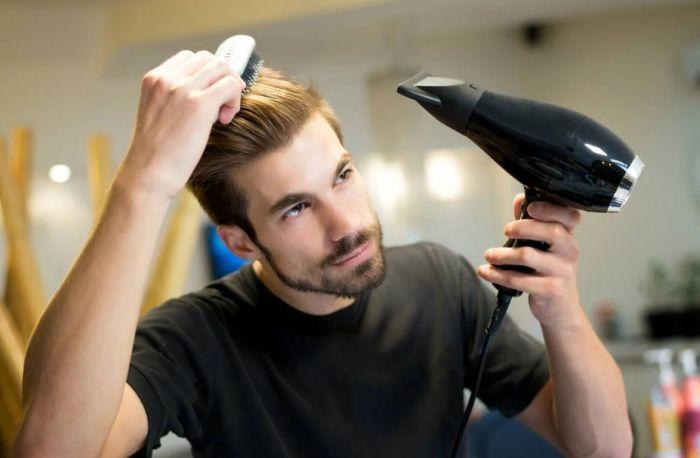укладка волос назад мужчине