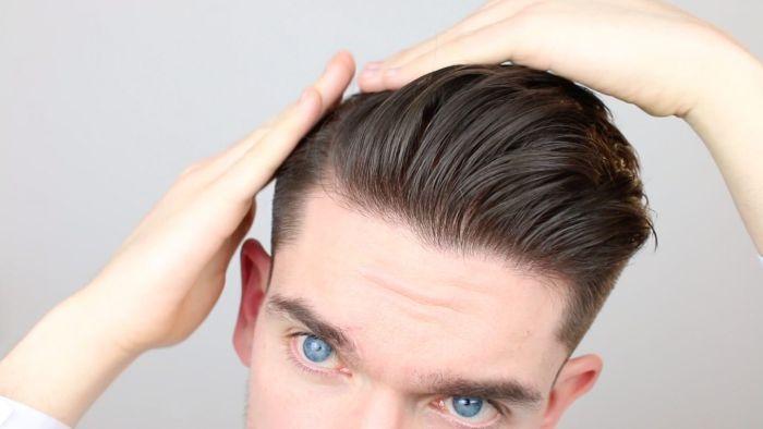 укладка волос воском мужчине
