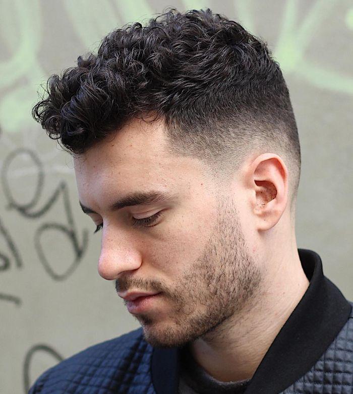 мужская стрижка на кудрявые волосы