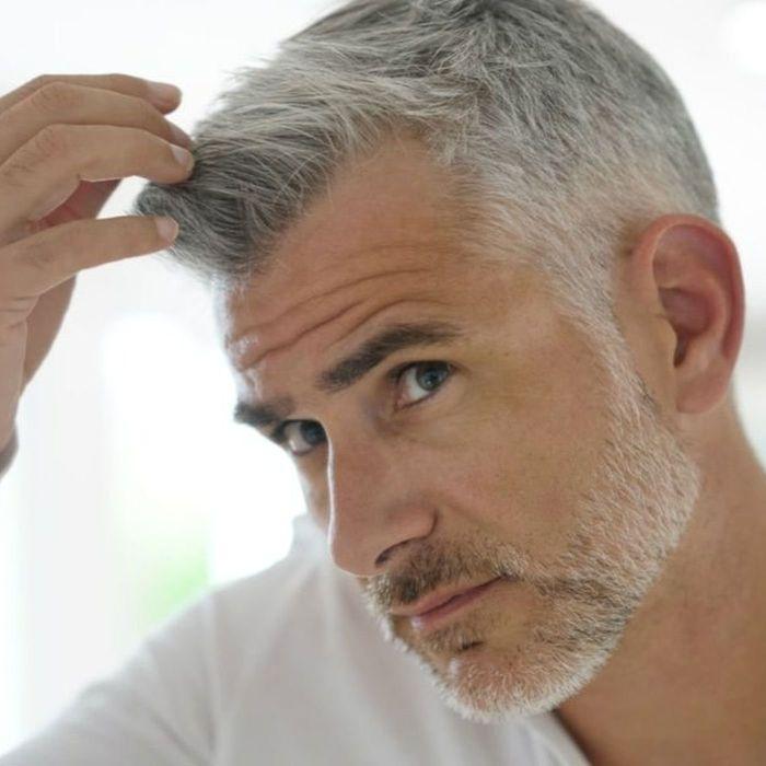 стрижки мужские на седые волосы