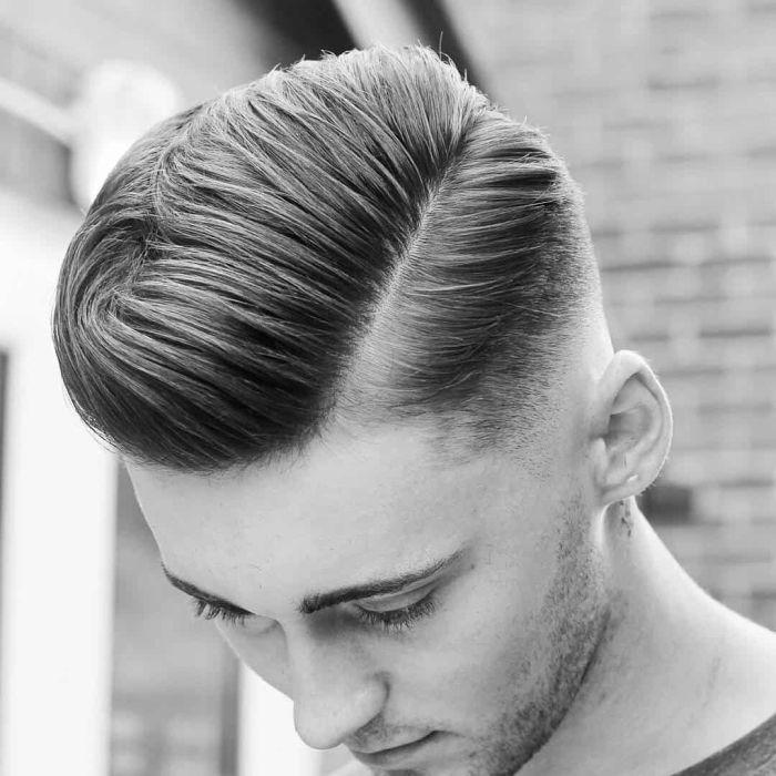 волосы назад и набок у мужчины